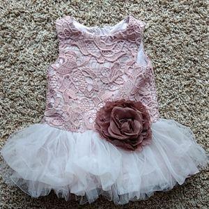 Pippa & Julie 12 mth pink sleeveless dress
